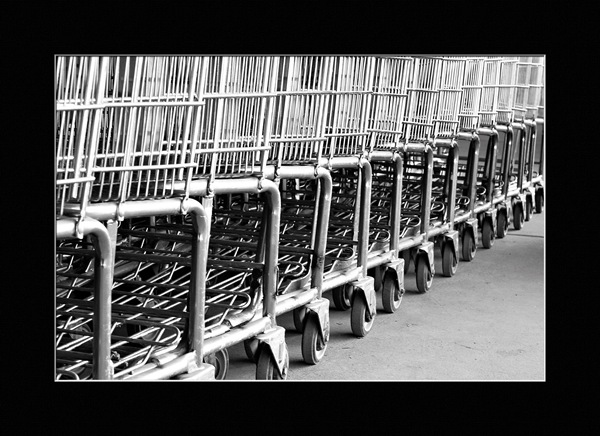Monochrome-Monday-shopping-carts
