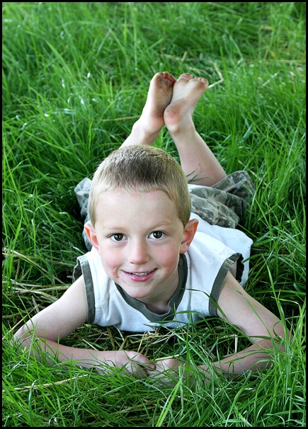 Daniel in our grass