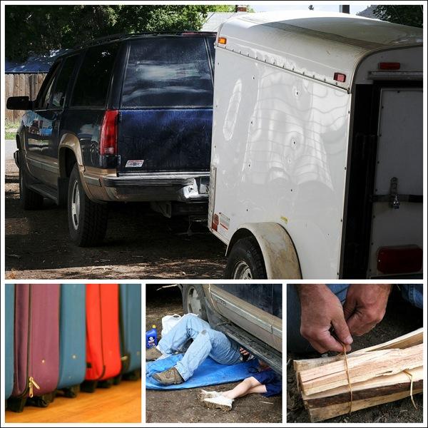 Preparing for camping