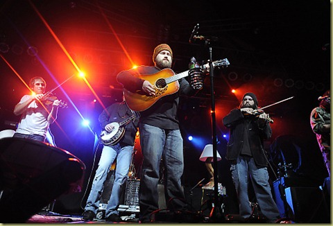 The Zac Brown band during the concert.