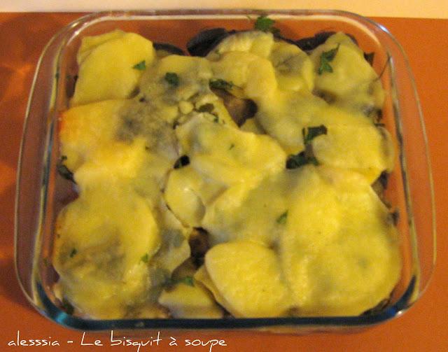 Pasticcio di patate, melanzane e scamorza