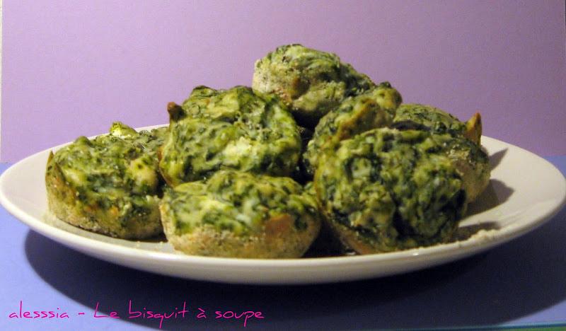 Muffin ricotta e spinaci