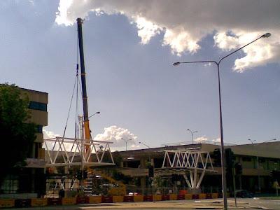 Belconnen bridge installation