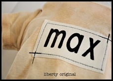 Max Stamped Onesie Close