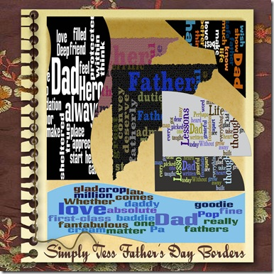SimplyTes Father's Day Borders Preview