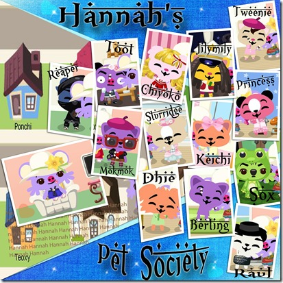 Hannah's Pet Society