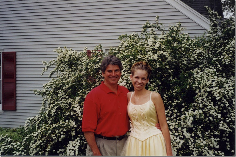 Megs and Dad Prom 99