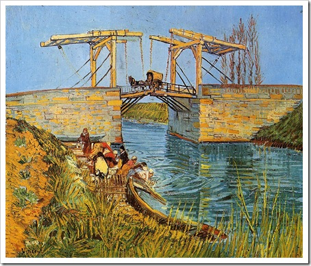 van gogh bridge at arles women washing