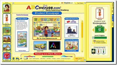 abcmouse student screen
