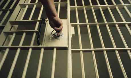 Locking a jail door