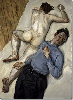 Lucien Freud, Two Men (1987-88)oil on canvas
