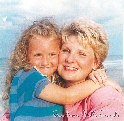me and mom beach when i was little