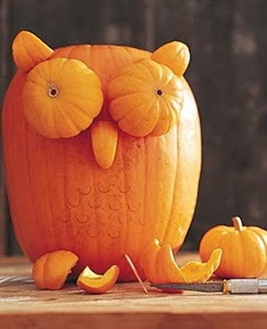 martha stewart pumpkin owl