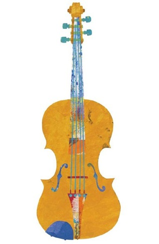 violin peppered paper