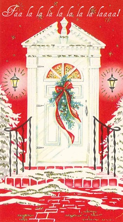 Red Card, White Door Christmas Card-1