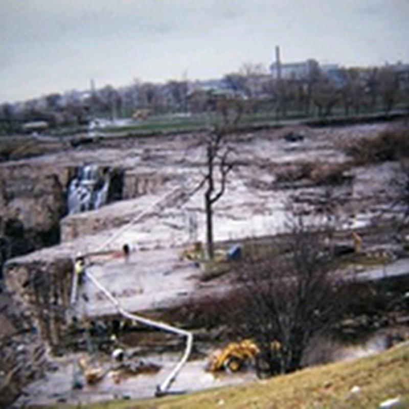 Air terjun Niagara  tanpa air terjun ..