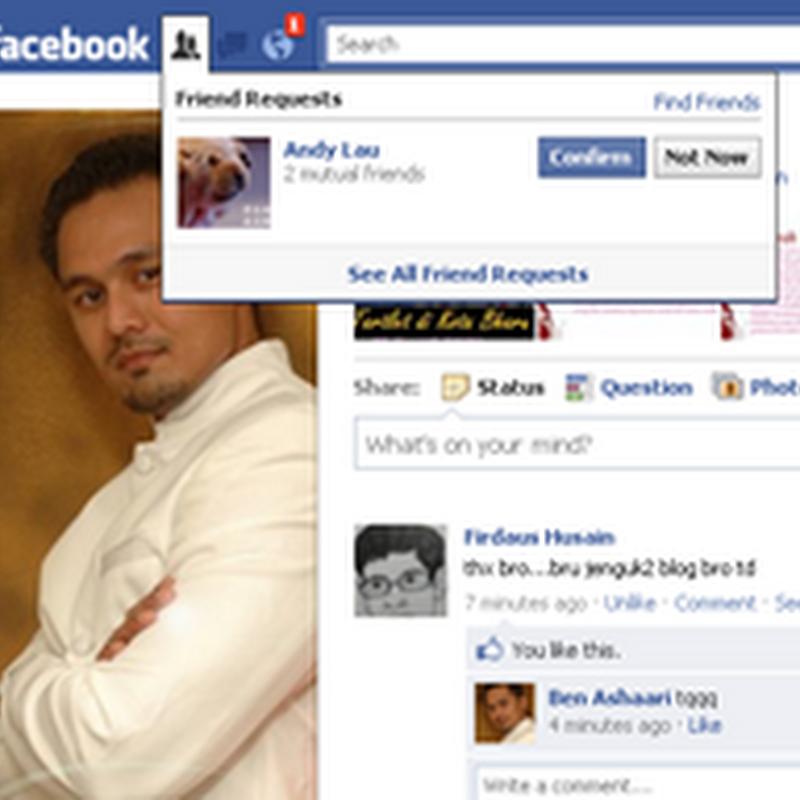 Bila ANDY LAU add FB aku !!!
