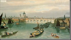 View of Thames painting