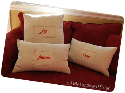 Knockoff Pottery Barn Pillows