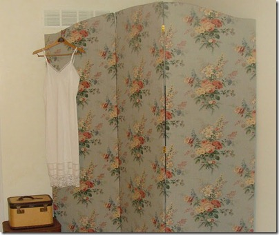 Fabric Covered Folding Screen