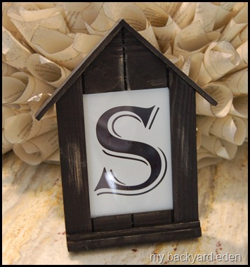 book page wreath frame