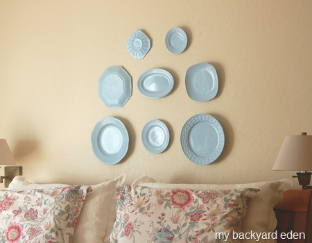 Master Bedroom Plate Wall