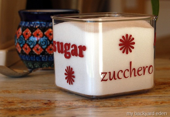 Italian Stenciled Sugar Bowl