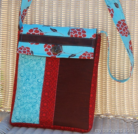 Fabric messenger bag