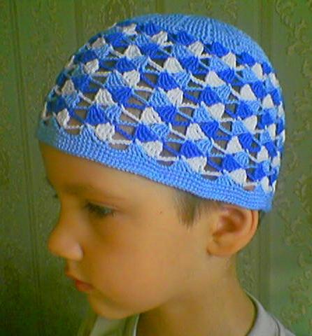 قبعات كروشيه للاولاد مع البترون، قبعات كروشيه للاطفال بالباترون 67