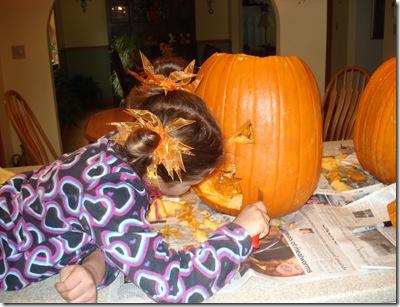 Carving pumpkins Halloween 2010 026