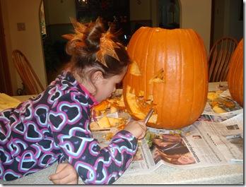 Carving pumpkins Halloween 2010 025