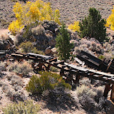Remnants of an ore cart rail system.