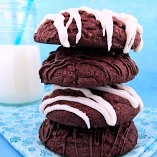 Giant Chocolate Cloud Cookies