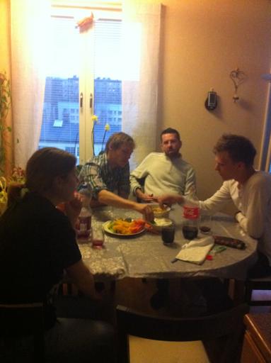 Middag med grabbarna.