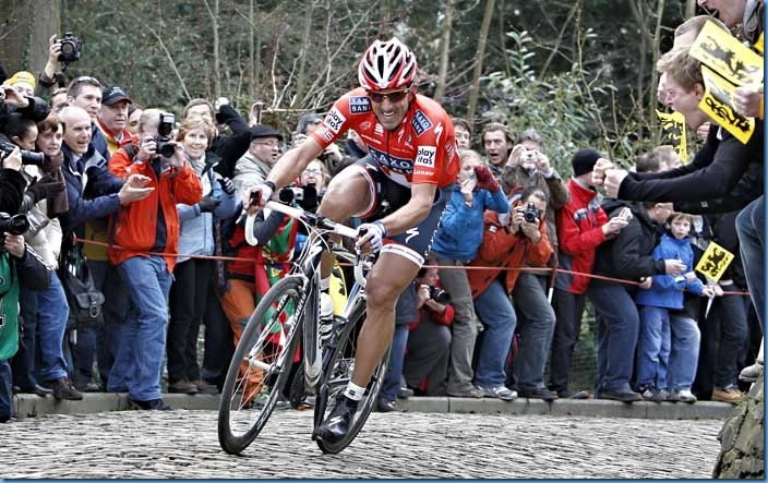 Ninove -Giro  delle Fiandre 2010 Fabian Cancellara (Saxo Bank)  -  foto Luca Bettini©2010