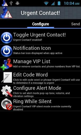 Urgent Contact