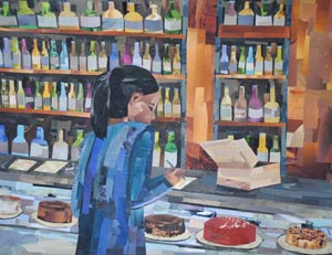 Bar and Bakery by collage artist Megan Coyle