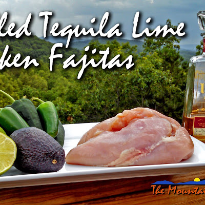 Grilled Tequila Lime Chicken Fajitas