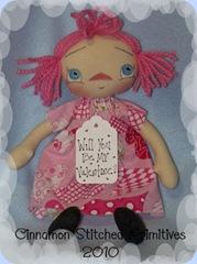 MY RAGGEDY DOLLS pink valentine annie 1-7-10