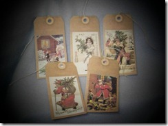 vintage winter hang tags