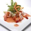 06-2010 - Grote garnalen in milde kerrie paprika saus, bieslook wantan en gepaneerde groenten 咖哩汁大蝦.jpg