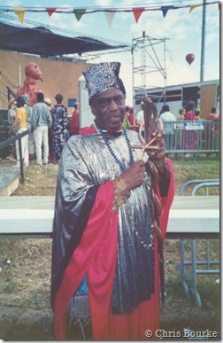 Sun Ra by Chris Bourke 1989