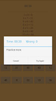 Screenshot of Multiplication Table