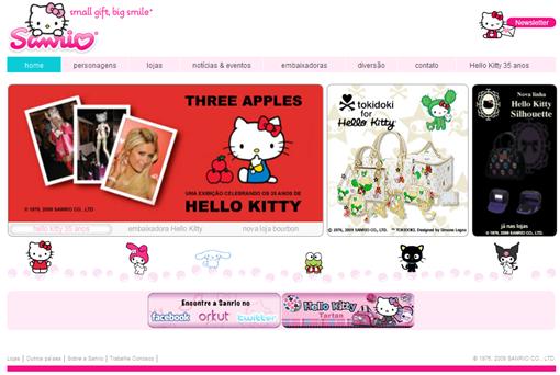 Site Sanrio.com.br