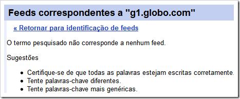 g1.globo.com não corresponde a um feed