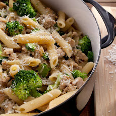 Creamy Pasta with Chicken Sausage and Broccoli