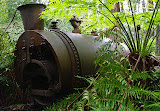 Old boiler for powering winch on Ada Mill 2 tramway route