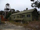The Wattle Gully gold mine at Chewton is still operating