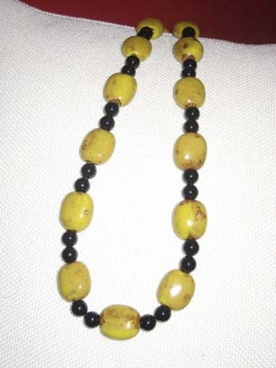 Agate and Ceramic Necklace