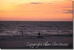 Solnedgang Henne strand